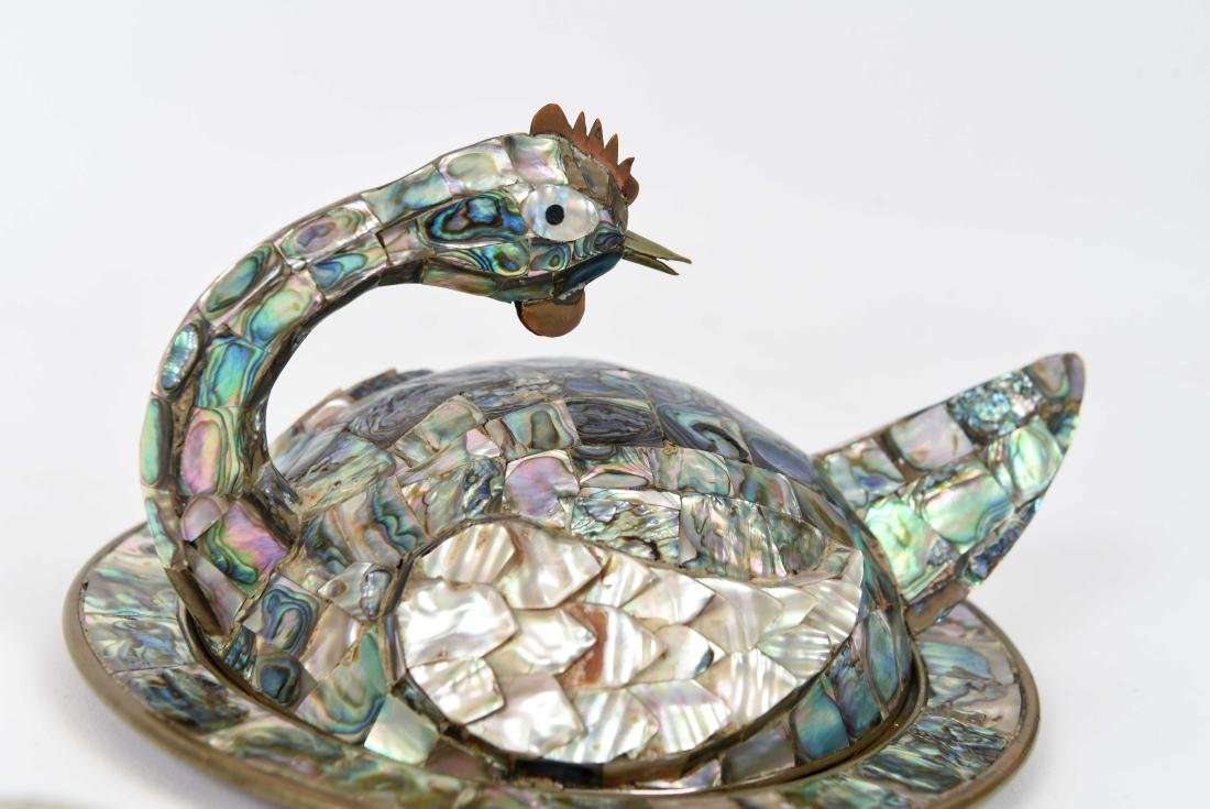 MEXICAN ABALONE BIRD DISH AND BOTTLE OPENER - 3