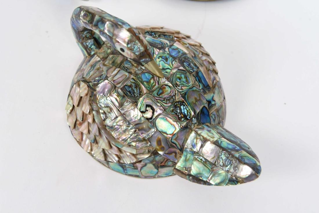 MEXICAN ABALONE BIRD DISH AND BOTTLE OPENER - 5