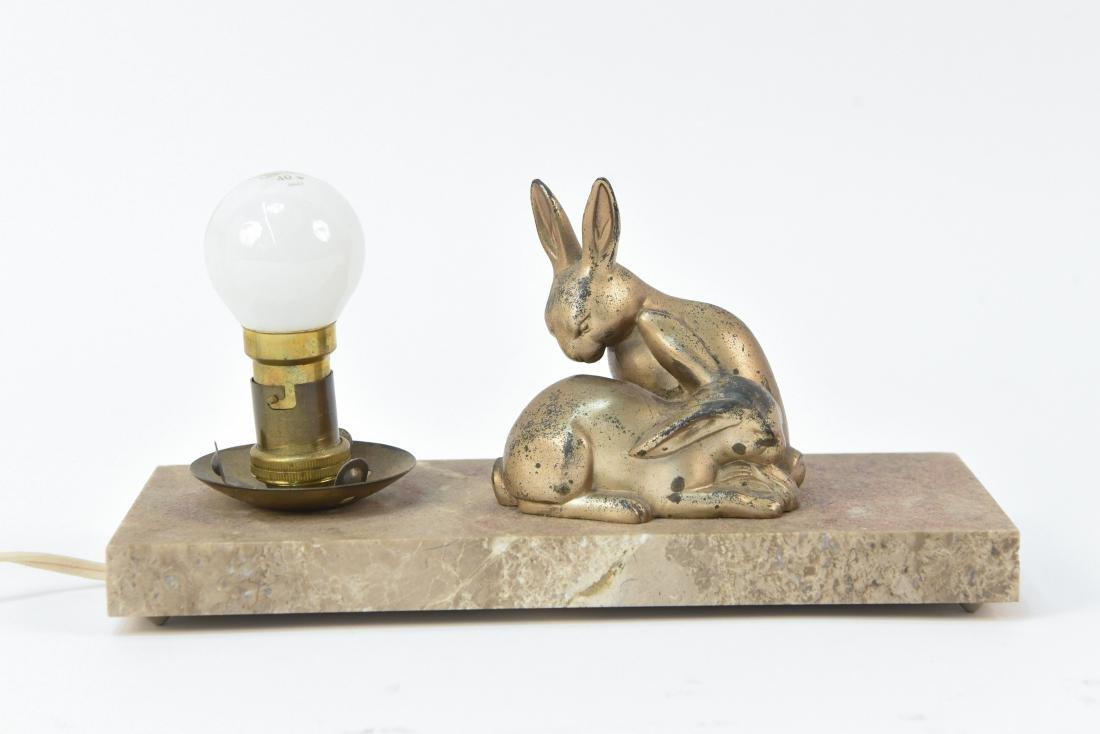ART DECO METAL BUNNY LAMP