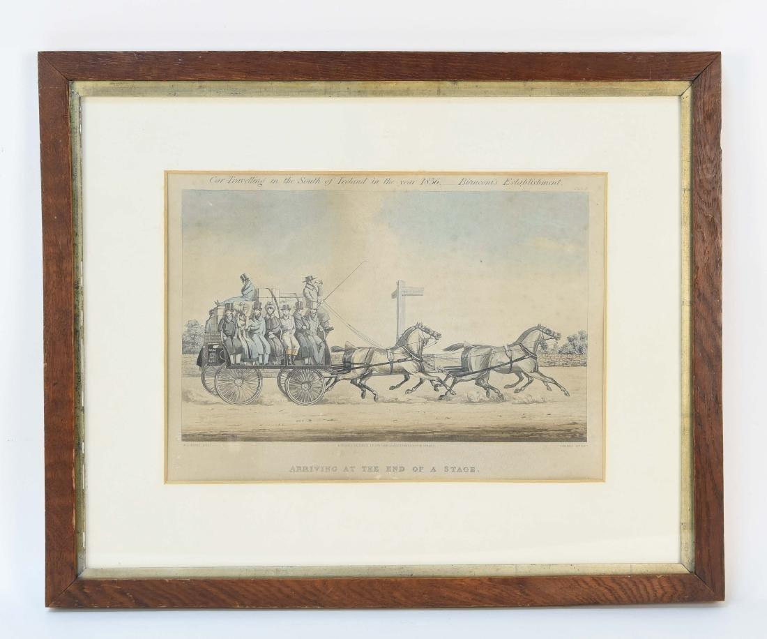 COLOR ENGRAVING PRINT 1856