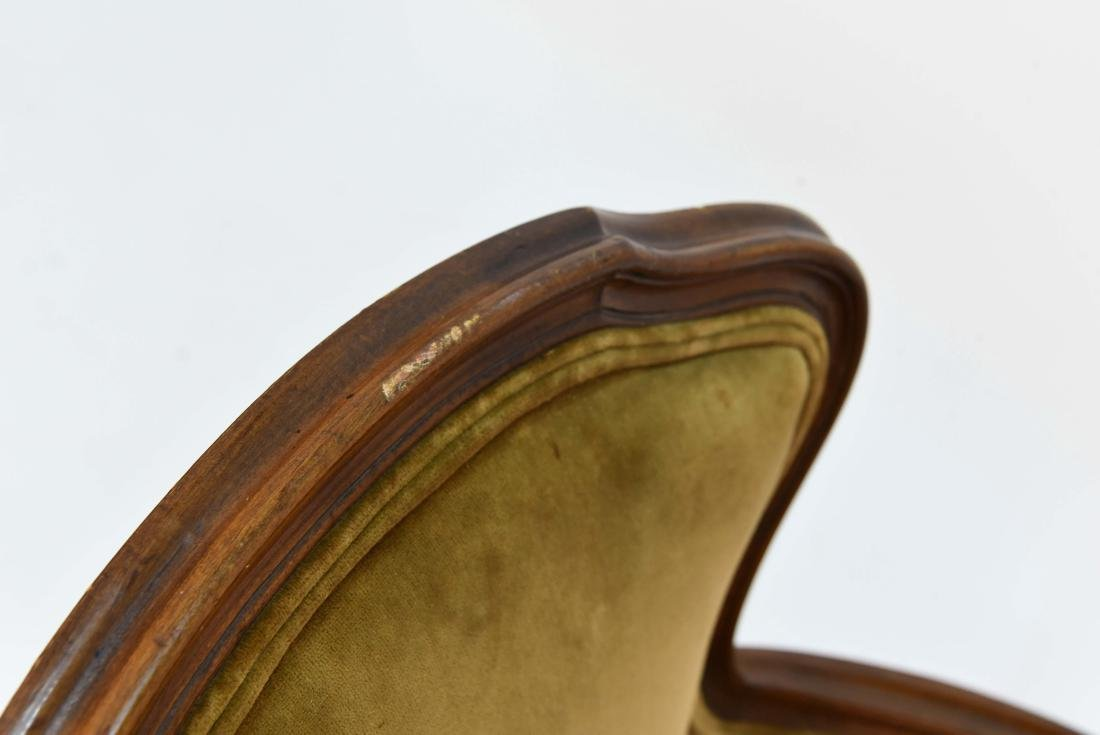 LOUIS XV STYLE BERGERE ARM CHAIR - 10