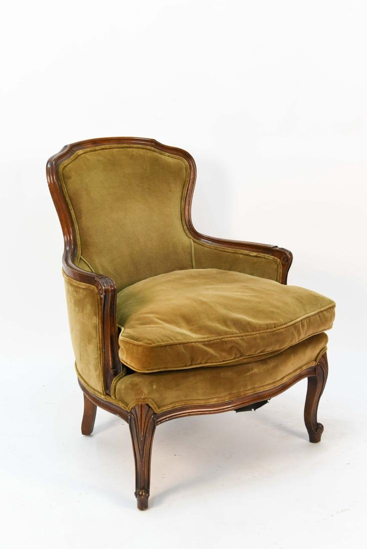 LOUIS XV STYLE BERGERE ARM CHAIR