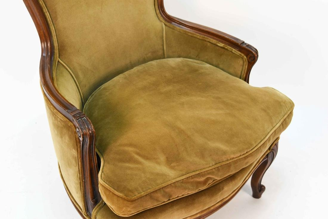 LOUIS XV STYLE BERGERE ARM CHAIR - 3