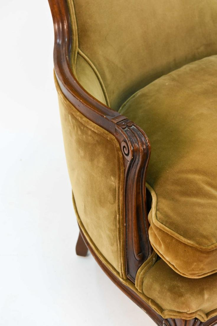 LOUIS XV STYLE BERGERE ARM CHAIR - 4