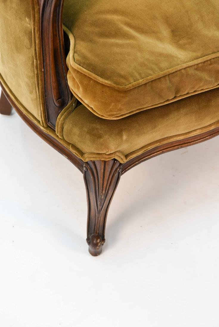 LOUIS XV STYLE BERGERE ARM CHAIR - 5