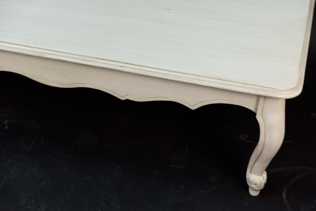 WHITE PAINTED FRENCH STYLE WOODEN COFFEE TABLE - 2