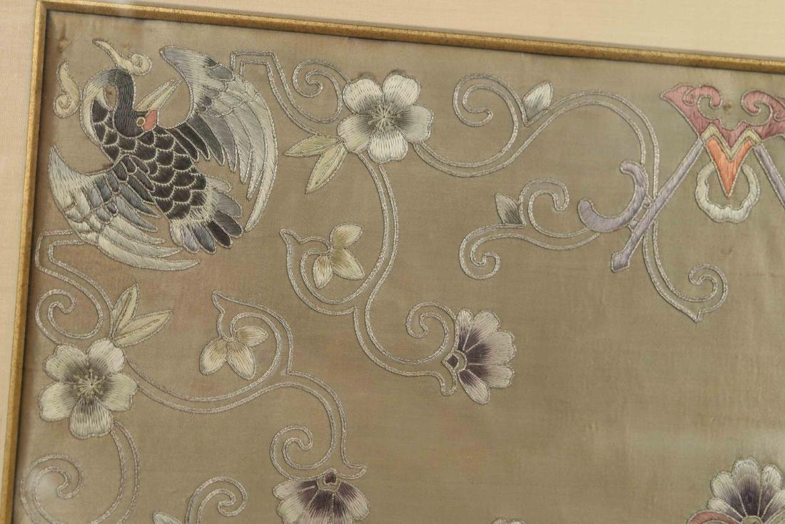 EARLY 20TH C. CHINESE SILK EMBROIDERY - 2