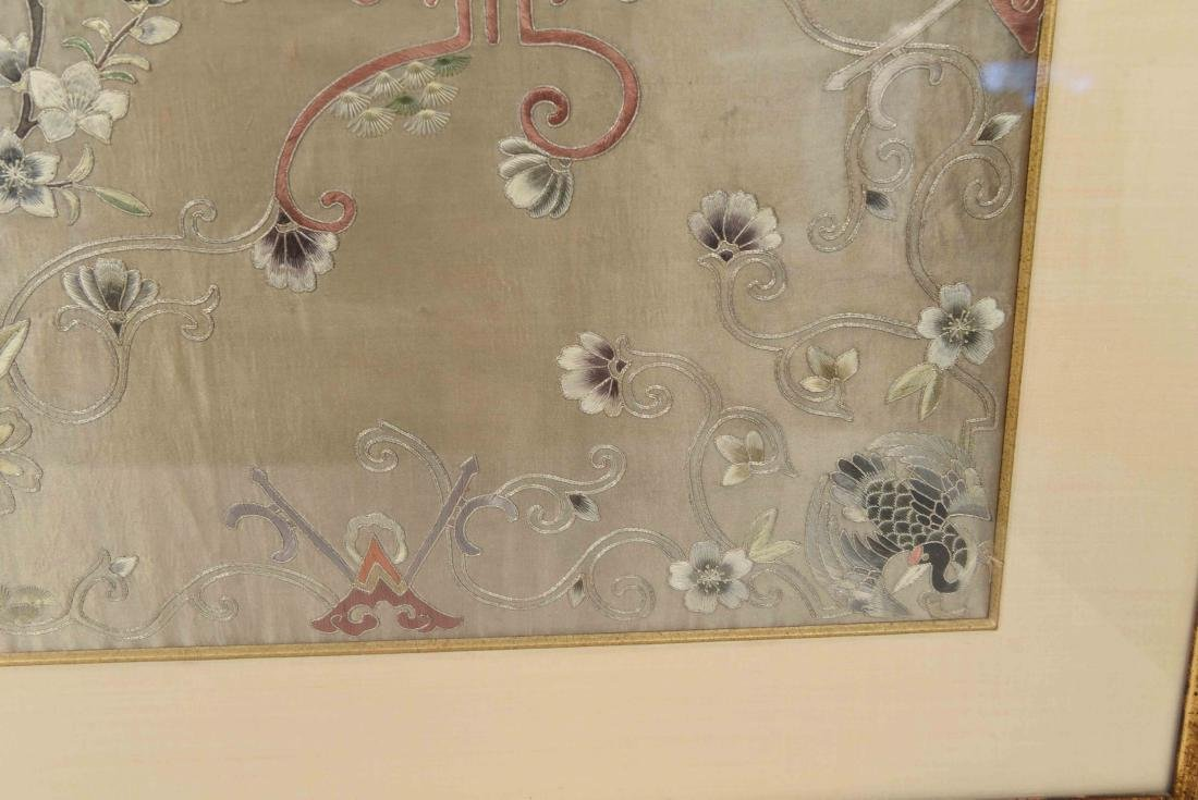 EARLY 20TH C. CHINESE SILK EMBROIDERY - 7