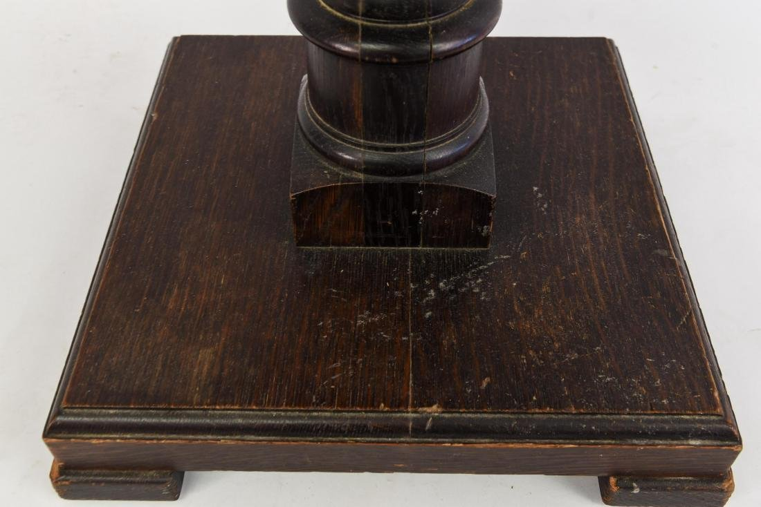 WOODEN PEDESTAL TABLE - 2