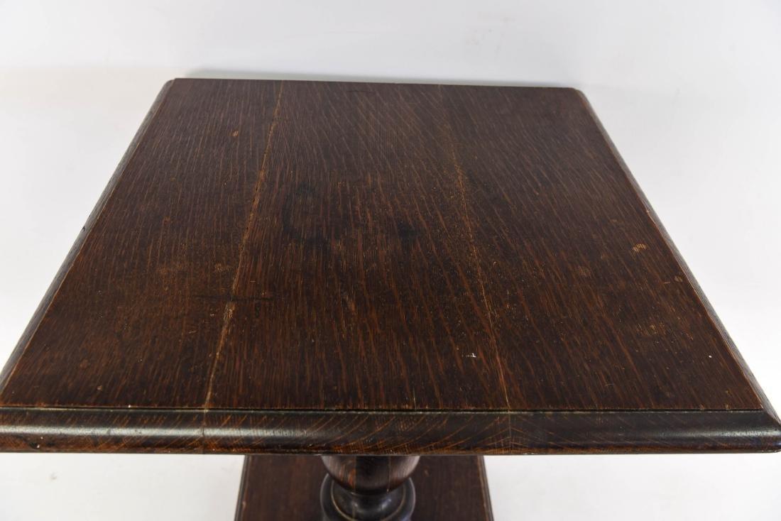 WOODEN PEDESTAL TABLE - 7