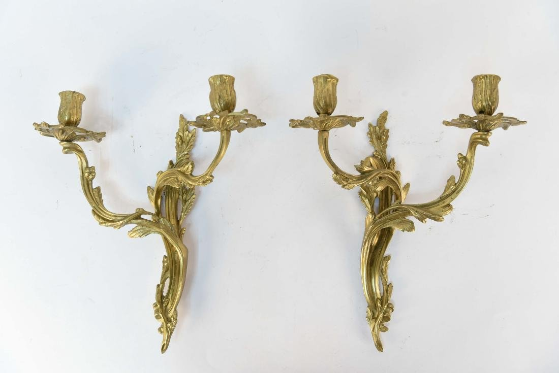 PAIR OF FRENCH STYLE SCONCES