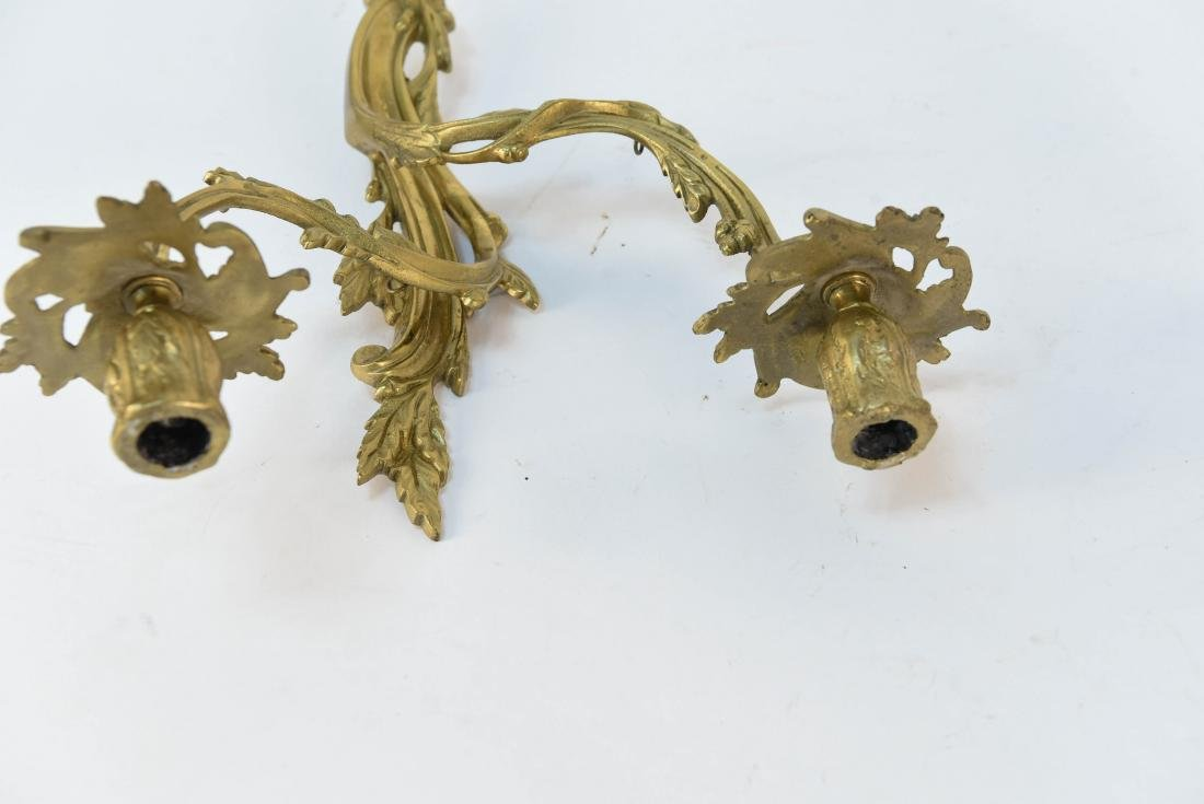 PAIR OF FRENCH STYLE SCONCES - 7