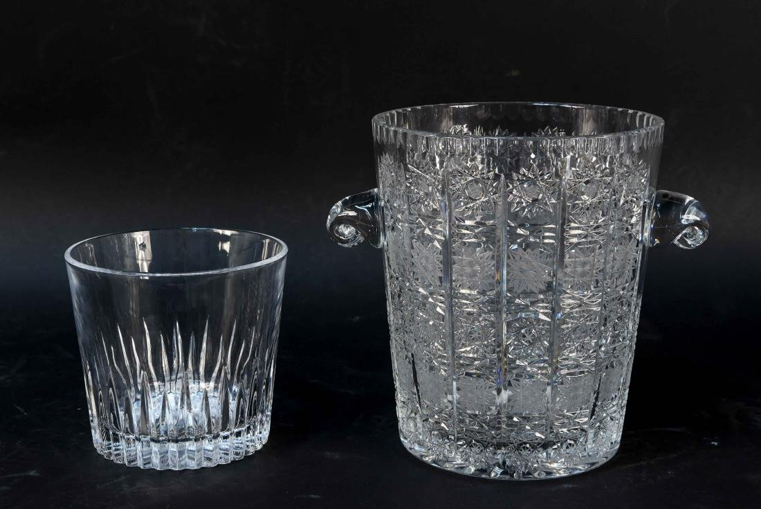 (2) CUT CRYSTAL ICE BUCKETS