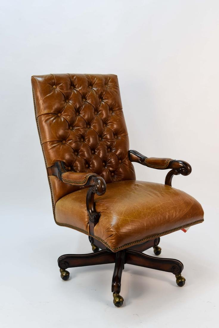 TUFTED FAUX LEATHER EXECUTIVE CHAIR