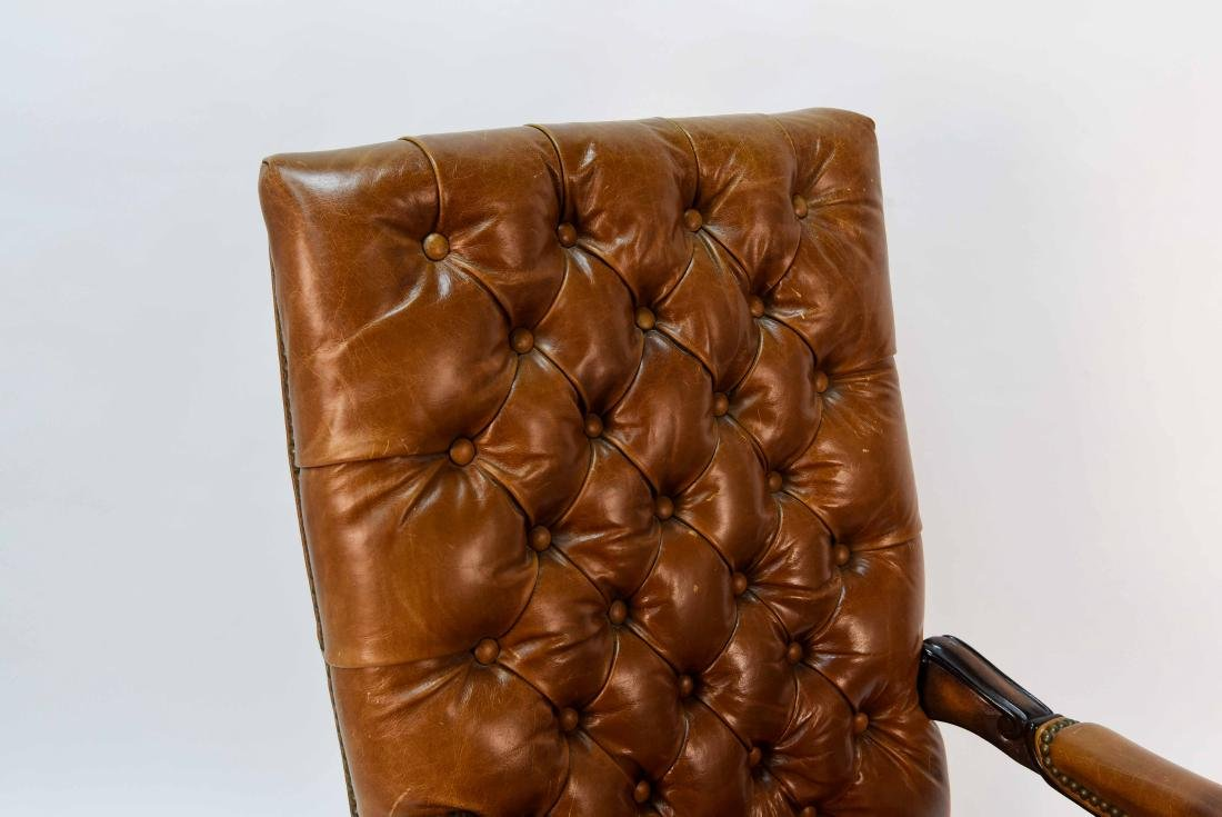 TUFTED FAUX LEATHER EXECUTIVE CHAIR - 2