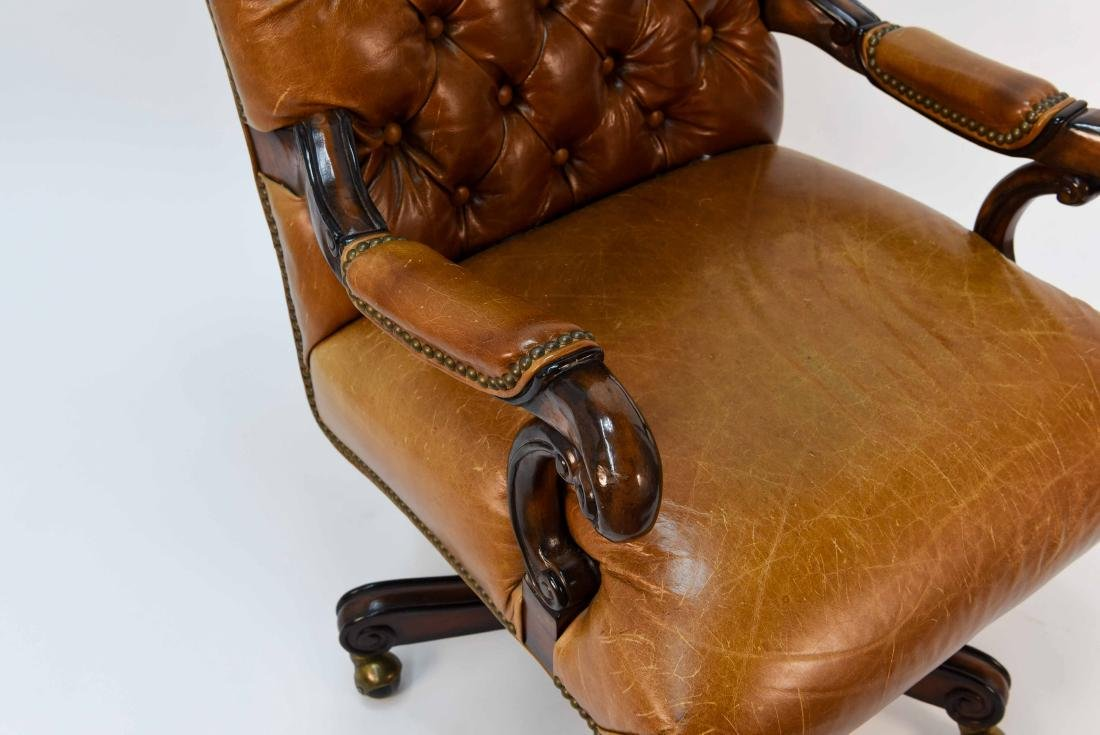 TUFTED FAUX LEATHER EXECUTIVE CHAIR - 4