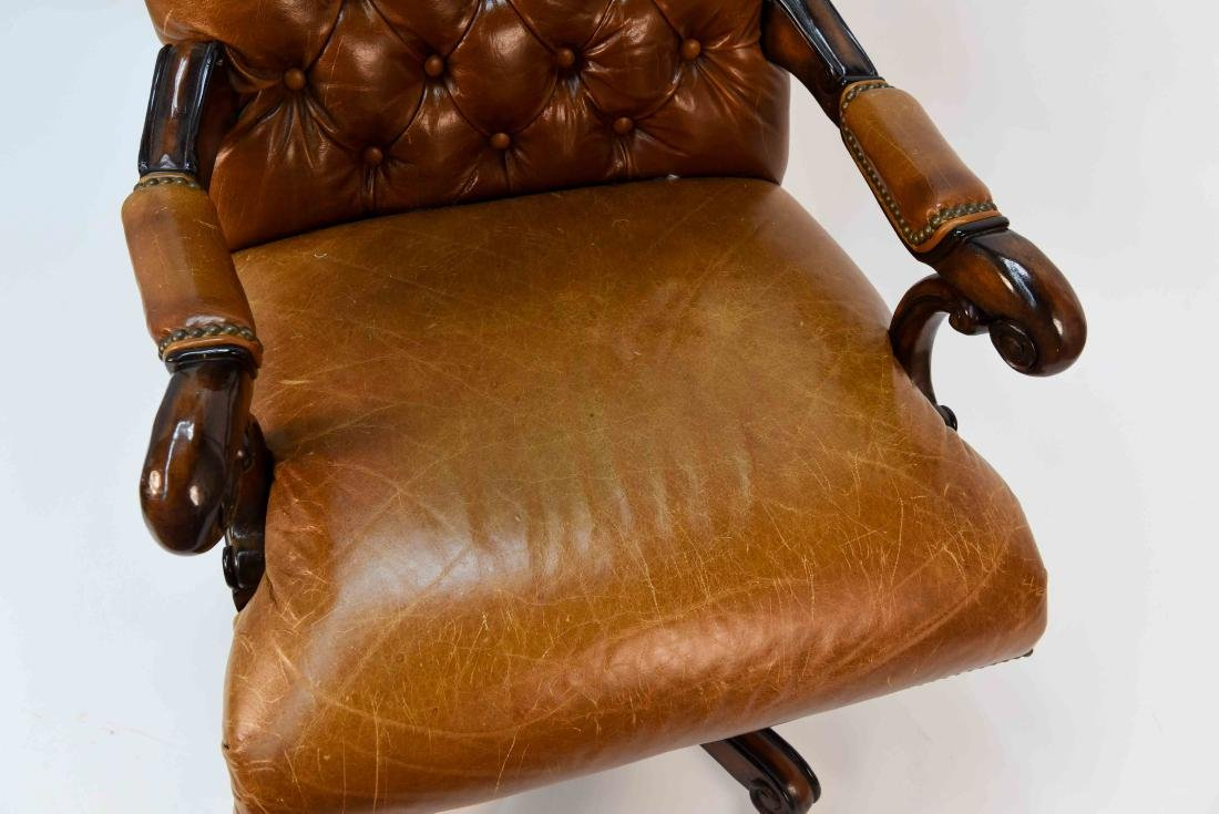 TUFTED FAUX LEATHER EXECUTIVE CHAIR - 5