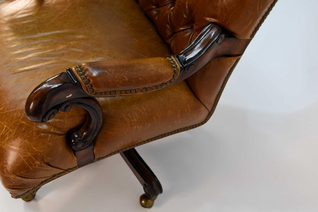 TUFTED FAUX LEATHER EXECUTIVE CHAIR - 6
