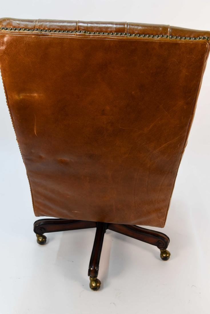TUFTED FAUX LEATHER EXECUTIVE CHAIR - 7