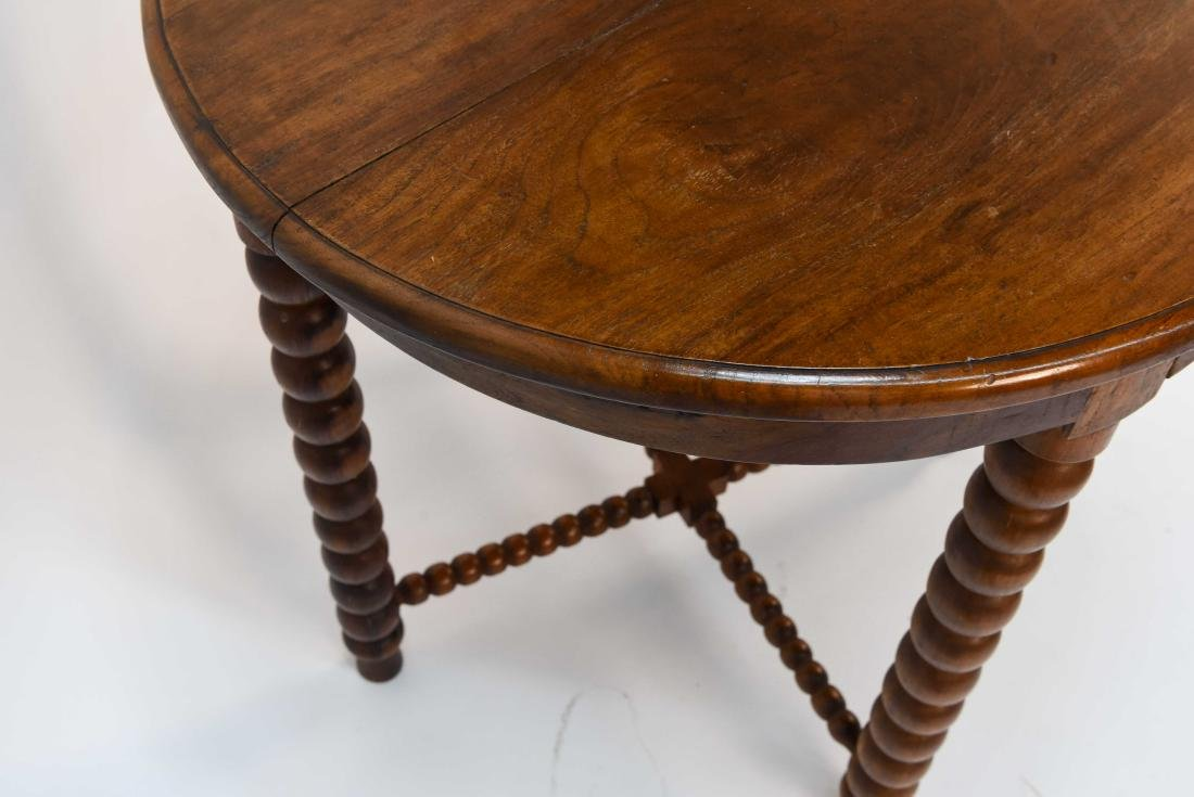 CARVED BALL TABLE - 9