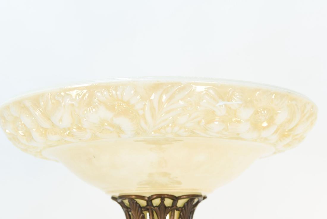 BRASS & MARBLE FLOOR LAMP - 2
