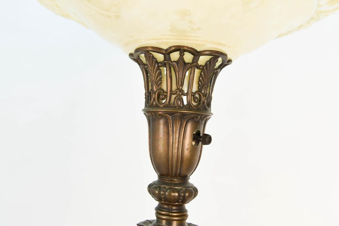 BRASS & MARBLE FLOOR LAMP - 4