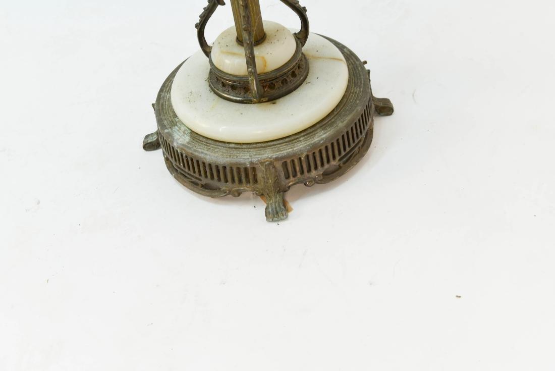 BRASS & MARBLE FLOOR LAMP - 8