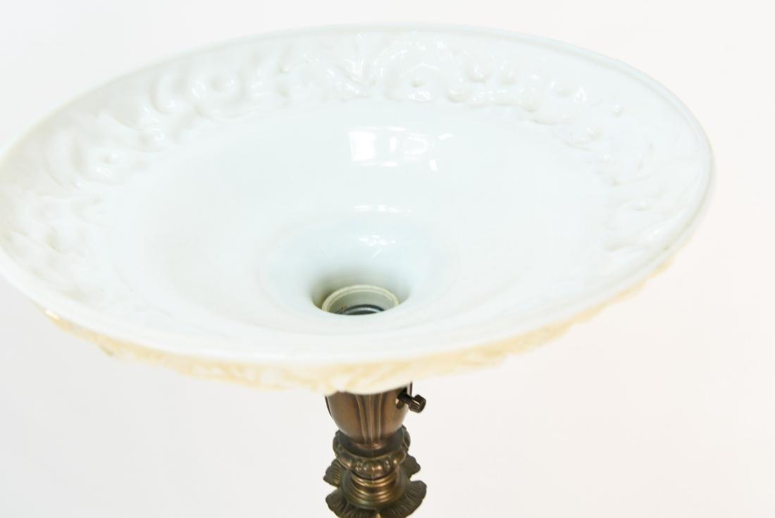 BRASS & MARBLE FLOOR LAMP - 9