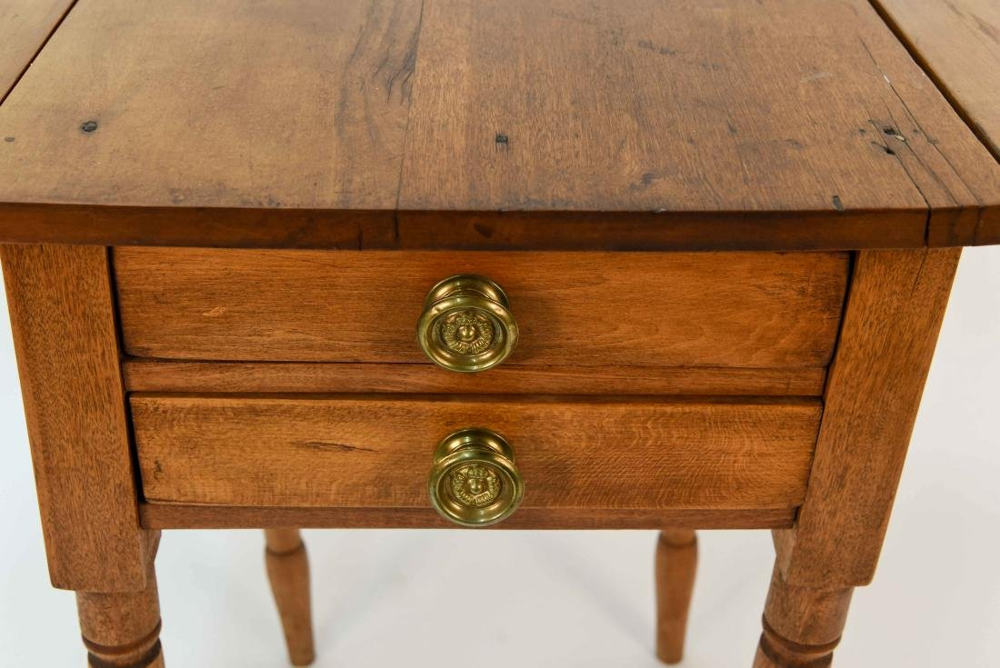 ANTIQUE WOODEN DROP SIDE TABLE - 3