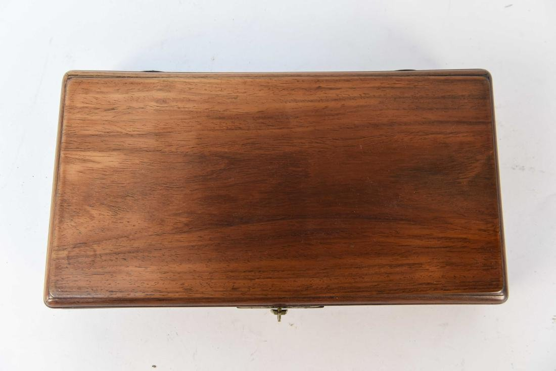 ANTIQUE CHINESE ROSEWOOD COURIER BOX - 2