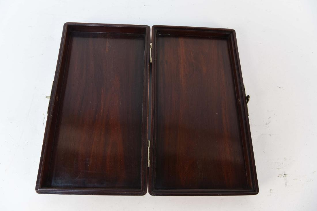 ANTIQUE CHINESE ROSEWOOD COURIER BOX - 5