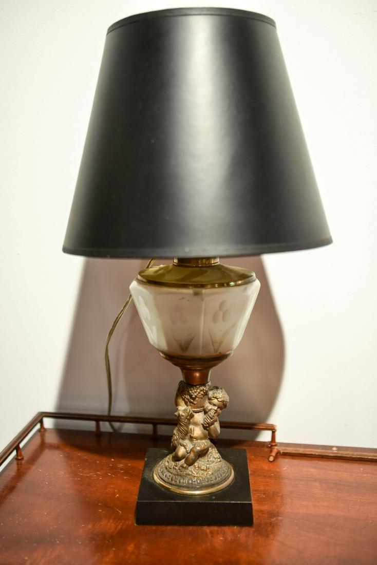 GROUPING INCL. TEA CART, LAMP, & MIRROR - 4
