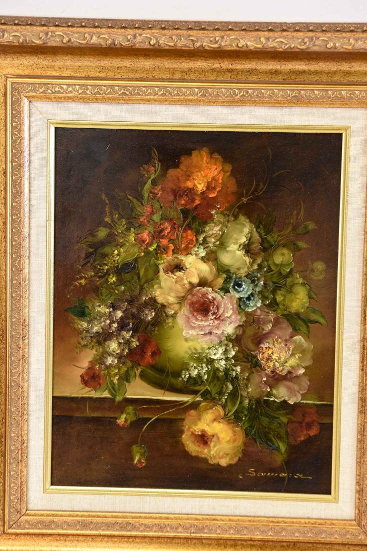 PAIR OF CONTEMPORARY FLORAL FLOWER STILL LIFES - 2
