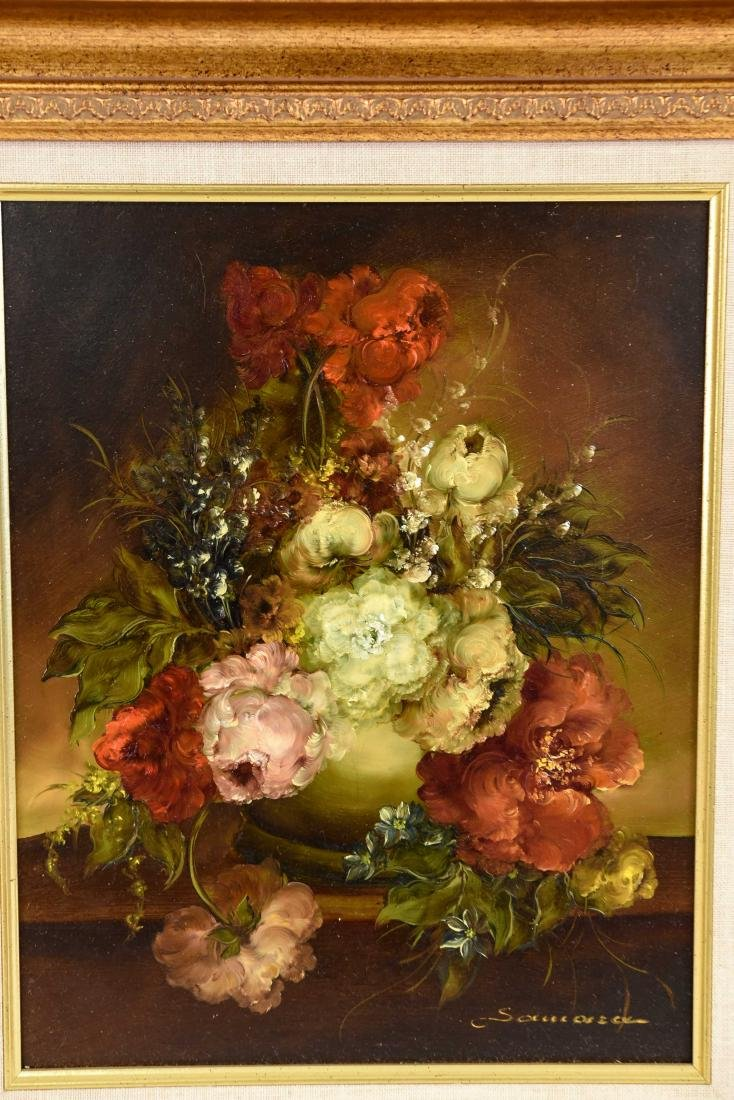 PAIR OF CONTEMPORARY FLORAL FLOWER STILL LIFES - 3
