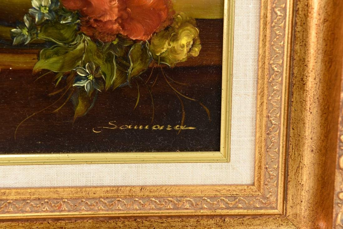 PAIR OF CONTEMPORARY FLORAL FLOWER STILL LIFES - 4