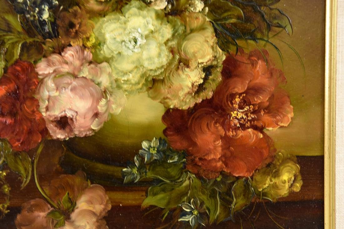 PAIR OF CONTEMPORARY FLORAL FLOWER STILL LIFES - 5