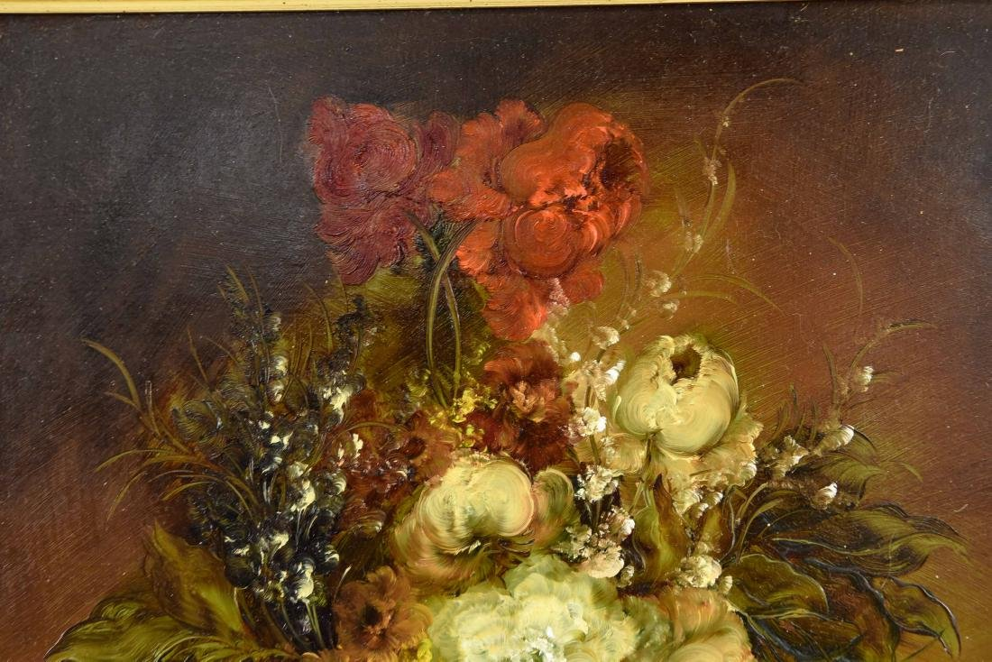 PAIR OF CONTEMPORARY FLORAL FLOWER STILL LIFES - 6