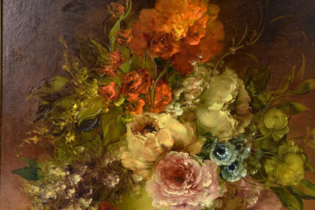 PAIR OF CONTEMPORARY FLORAL FLOWER STILL LIFES - 7
