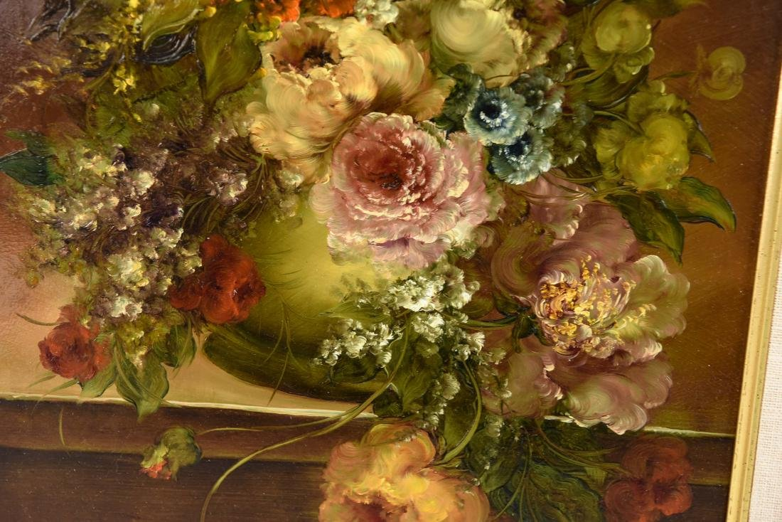 PAIR OF CONTEMPORARY FLORAL FLOWER STILL LIFES - 8