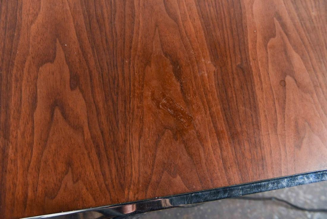 MID-CENTURY ROSEWOOD AND CHROME DESK - 10