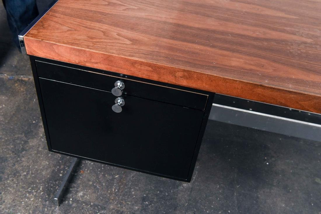 MID-CENTURY ROSEWOOD AND CHROME DESK - 2