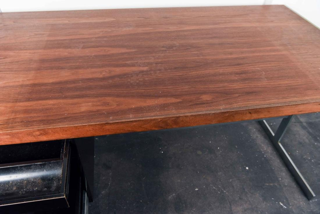 MID-CENTURY ROSEWOOD AND CHROME DESK - 4