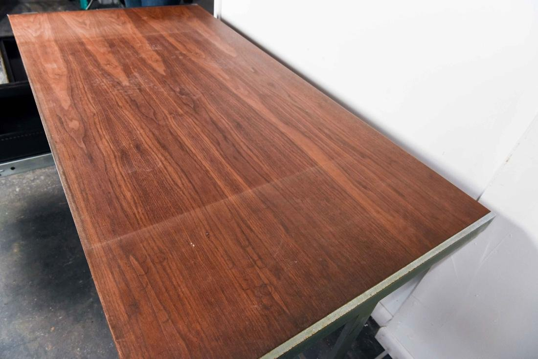 MID-CENTURY ROSEWOOD AND CHROME DESK - 5
