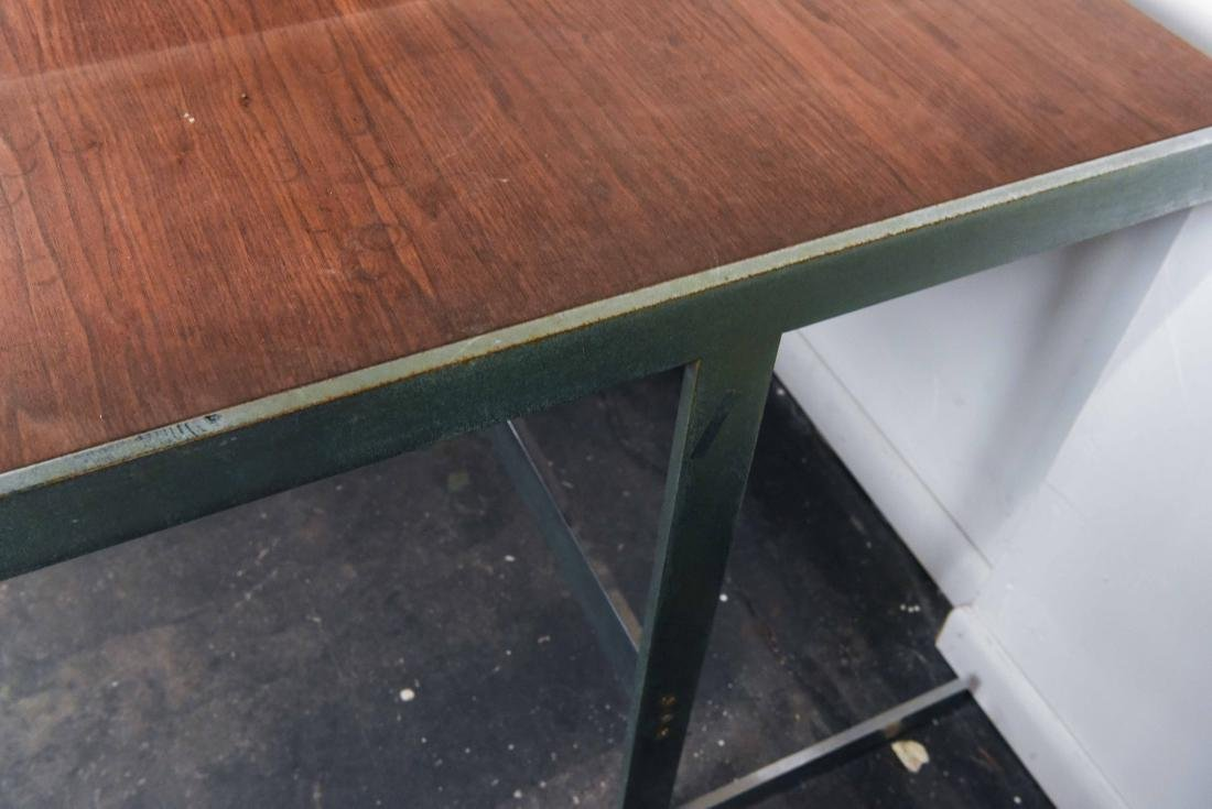 MID-CENTURY ROSEWOOD AND CHROME DESK - 6