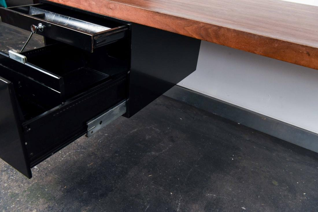 MID-CENTURY ROSEWOOD AND CHROME DESK - 8