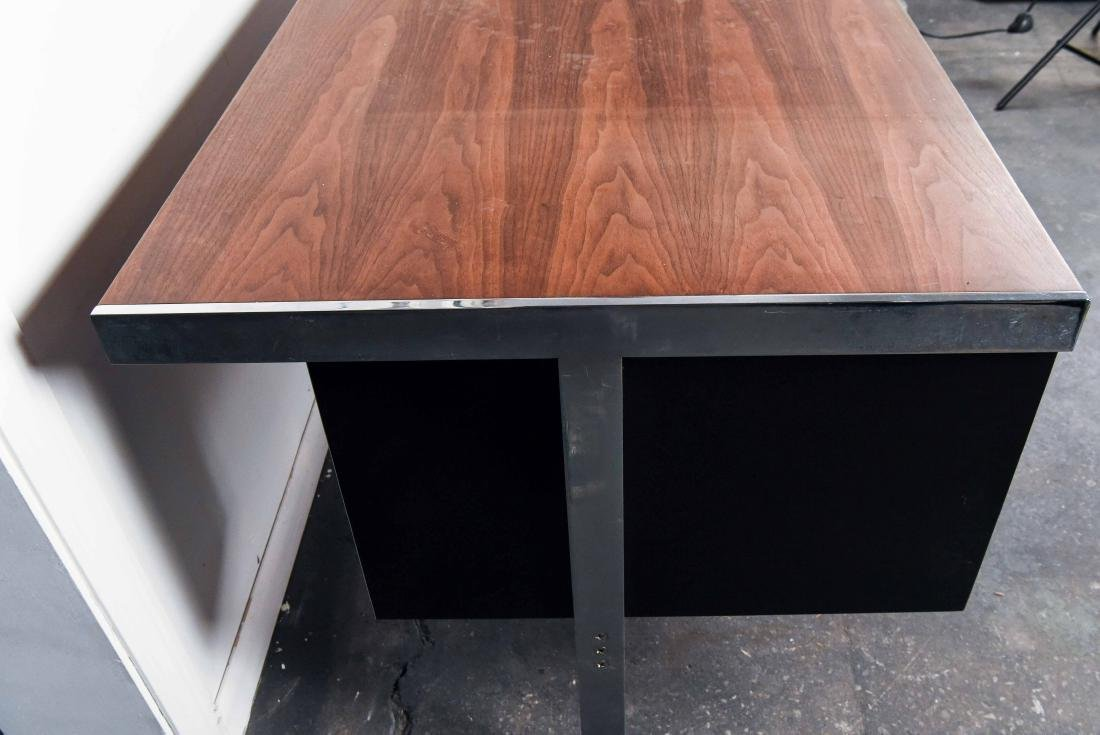 MID-CENTURY ROSEWOOD AND CHROME DESK - 9