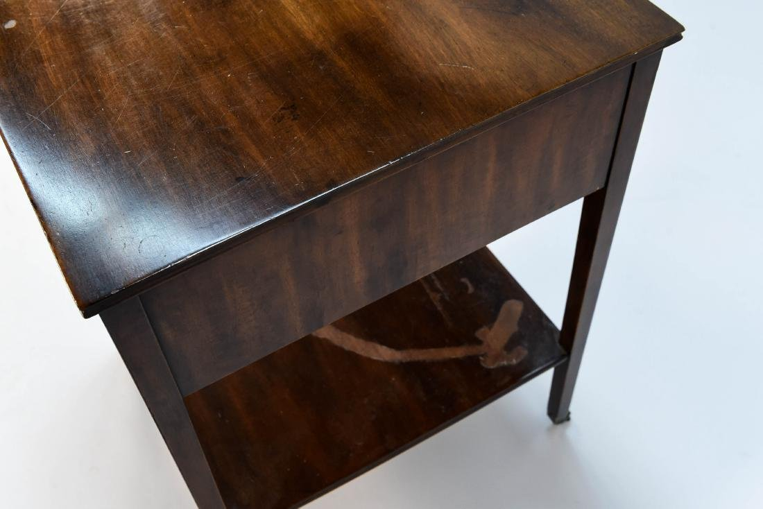 TWO DRAWER SIDE TABLE - 9