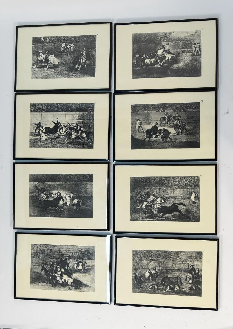 SET OF (8) GOYA PRINTS W/ CERTIFICATE