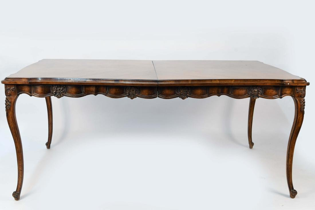 FRENCH STYLE CARVED WOOD DINING TABLE