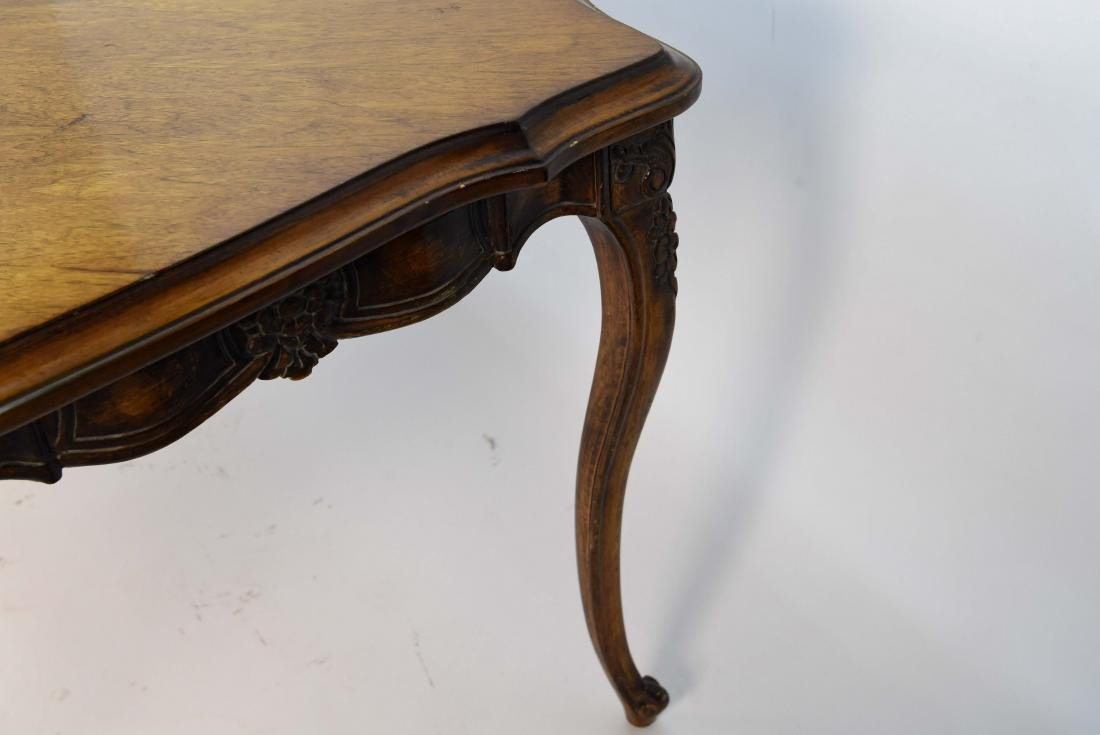FRENCH STYLE CARVED WOOD DINING TABLE - 7